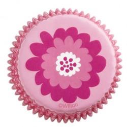 Pink Flower, 75 st muffinsformar