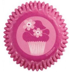 Pink Cupcake, 100 st små muffinsformar