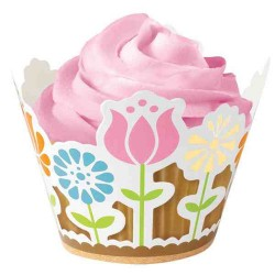 Garden party, 18 st cupcake wraps