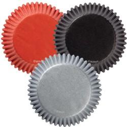 Black-Red-Grey, 75 st muffinsformar