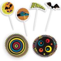 Halloween Party, 48 st muffinsformar och flaggor