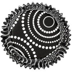Black dots, 36 st muffinsformar (folie)