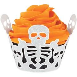 Skeleton, 18 st cupcake wraps