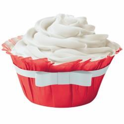 Ruffle Red, 12 st muffinsformar med rosett