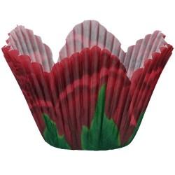 Red Rose Petal, 48 st små muffinsformar
