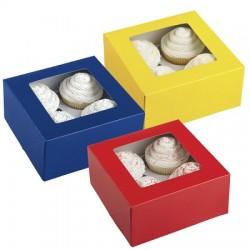 Cupcake ask, 3 st basfärger