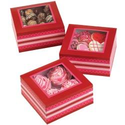 Red Harmony, 3 st cupcake askar