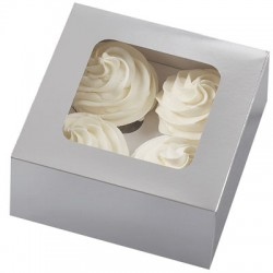 Cupcake askar, 3 st silver