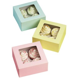 Cupcake askar, 3 st (pastell)