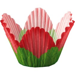 Red Petal, 24 st muffinsformar