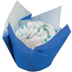 Pleated Blue, 15 st muffinsformar