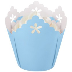 Baby Blue Flower, 15 st muffinsformar