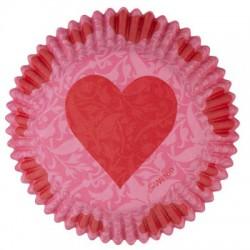 Pink Valentine, 75 st muffinsformar