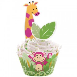 Jungle Pals, cupcake wraps