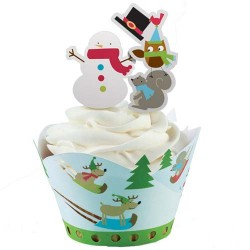 Jolly Winter, cupcake wraps med picks