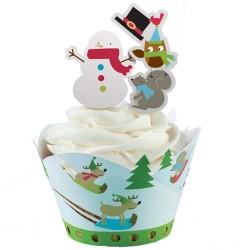 Jolly Winter, cupcake wraps med picks