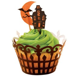 Haunted Manor, cupcake wraps med flaggor