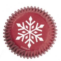 Snowflake, 100 st små muffinsformar