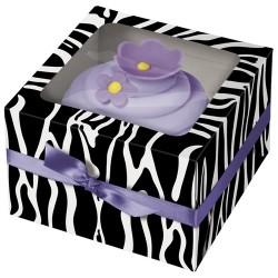 Zebra, 3 st cupcake-askar