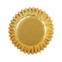 Guld, 72 st små muffinsformar