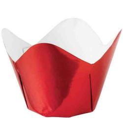 Red Metallic, 15 st muffinskoppar
