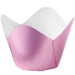 Soft Pink Metallic, 15 st muffinskoppar