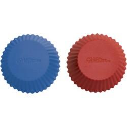 Muffinsformar, 12 st (silikon) röd/blå