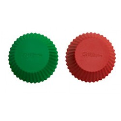 Muffinsformar, 12 st (silikon) röd/grön