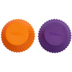 Muffinsformar, 12 st (silikon) orange/lila