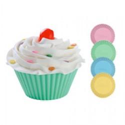 Muffinsformar, 12 st (silikon) pastell