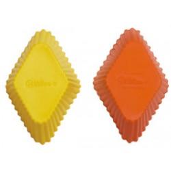 Muffinsformar (silikon), 12 st romb (UTGÅR)