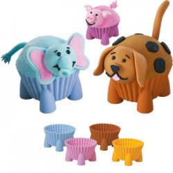 Muffinsformar m djurfötter, 4 st (silikon)