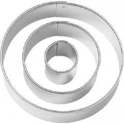 Cirklar, 3 st utstickare (PME)