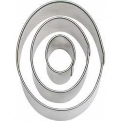 Oval, 3 st utstickare
