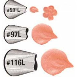 Blomblad, 3 st tyllar för vänsterhänta