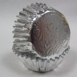 Silver Treasure, 24 st muffinsformar (relief folie)