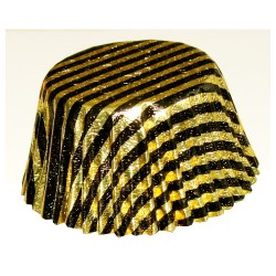 Gold Stripes, 24 st muffinsformar (folie)