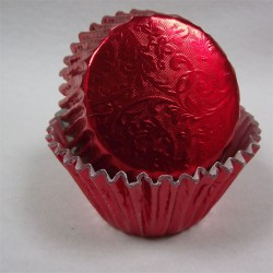 Red Harmony, 24 st muffinsformar (relief folie)