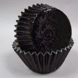 Black Treasure, 24 st muffinsformar (relief folie)