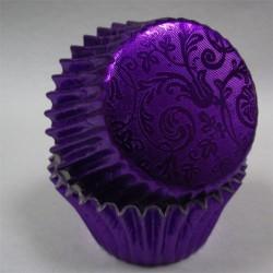 Purple Harmony, 40 st muffinsformar (relief folie)