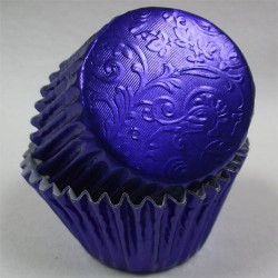 Royal Blue Harmony, 24 st muffinsformar (relief folie)