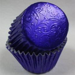 Royal Blue Harmony, 24 st muffinsformar (relief folie)