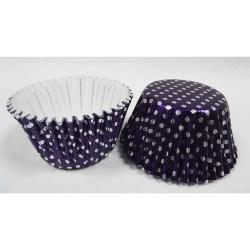 Purple Dots, 40 st folieformar (mellan)