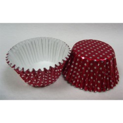 Red Dots, 24 st muffinsformar (folie)