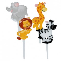 Zoo, 9 st cupcake-picks