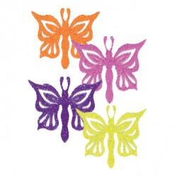 Fjärilar, 6 st muffinsflaggor
