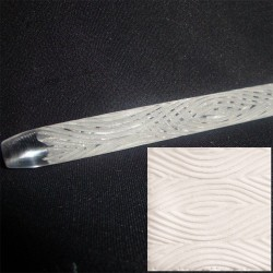 Trä, mönsterkavel (15 cm)