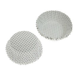White Tiny Dots, ca 72 st muffinsformar