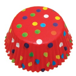 Red Multi Dots, ca 72 st muffinsformar
