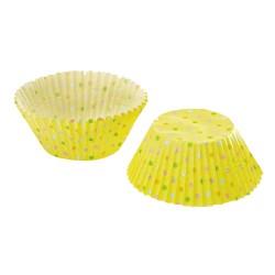Yellow Multi Dots, ca 72 st muffinsformar
